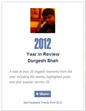 Facebook 2012 Year Profile Review