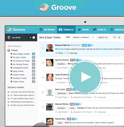 Groove : The ultimate online self-hosted ticket and live support system.