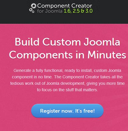 Create component easily for Joomla with component creator