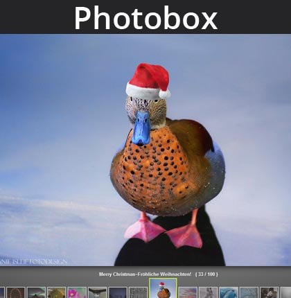 Jquery and CSS 3 based image gallery Photobox