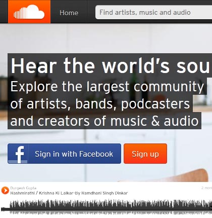 Sound cloud a dedicated platform for your own recorded voice.