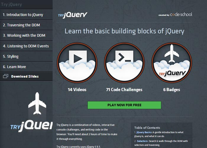learn jquery with try.jquery,com