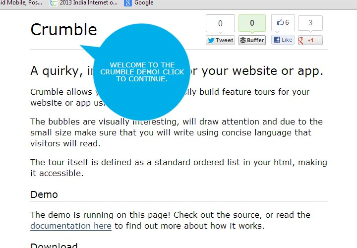 crumble web page guide creator