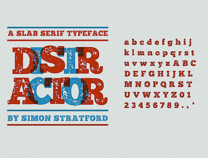 distractor free font