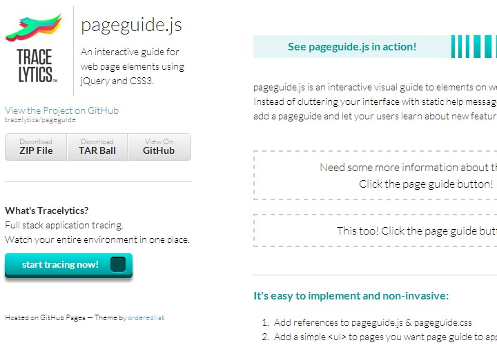 jquery page guide