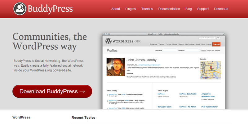 Buddypress for Wordpress