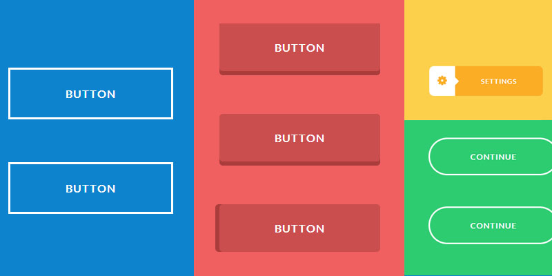 creative and fancy buttons in css3