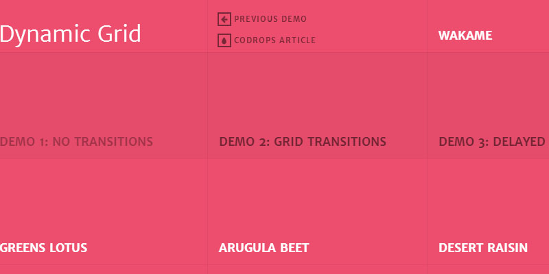Google Hot Trends Grid Layout