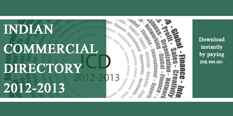 Indian Commercial Directory 2012 - 2013