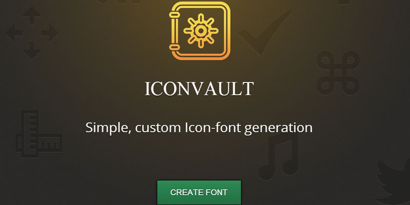 Iconvault to create icon font