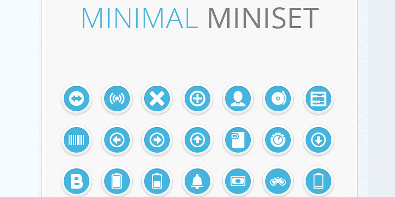 Download excellent set of minimalistic icons for free