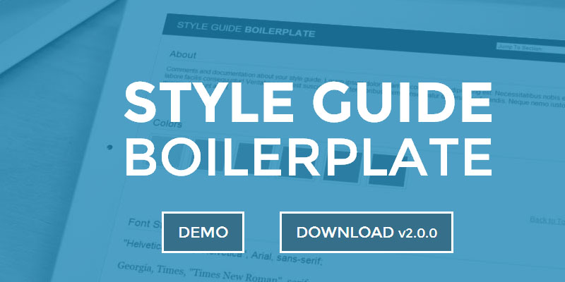 Style Gguide Boilerplate