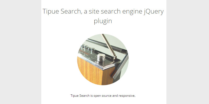 Tipue Search Plugin