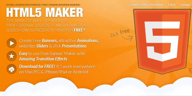 Create HTML5 animation easily with html5maker.com