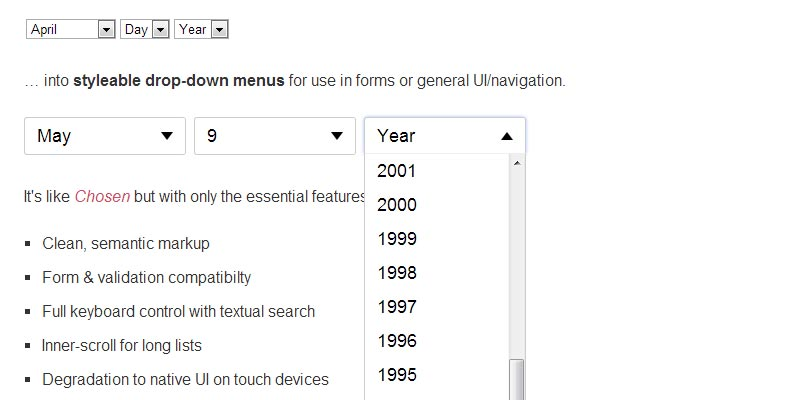 Create awesome dropdown with free Jquery EasyDropDown plugin