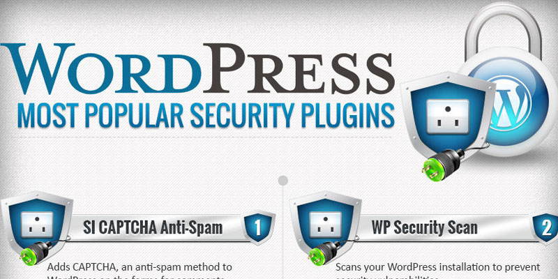 Awesome infographic depicting Wordpress most popular security plugins