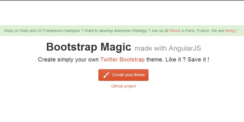Bootstrap Magic: Create your own Twitter Bootstrap theme easily