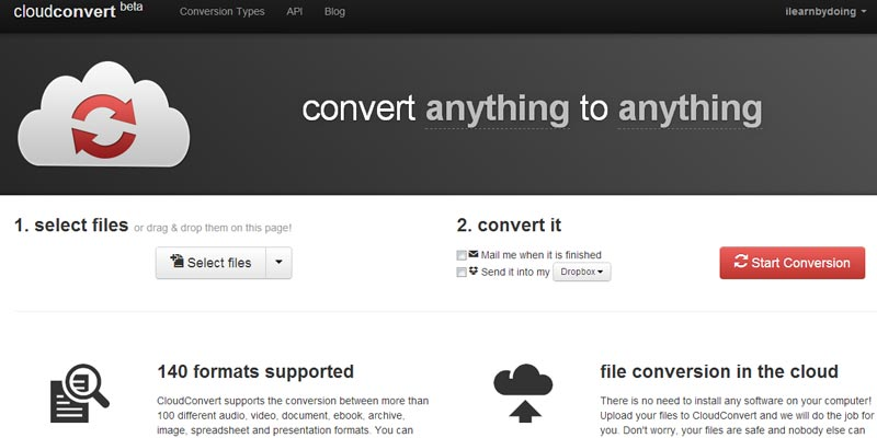 Cloudconvert.org: To convert any file format To any file format