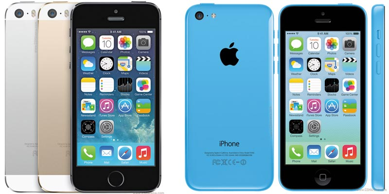 Recently lanuched Iphone 5S and Iphone 5C by Apple