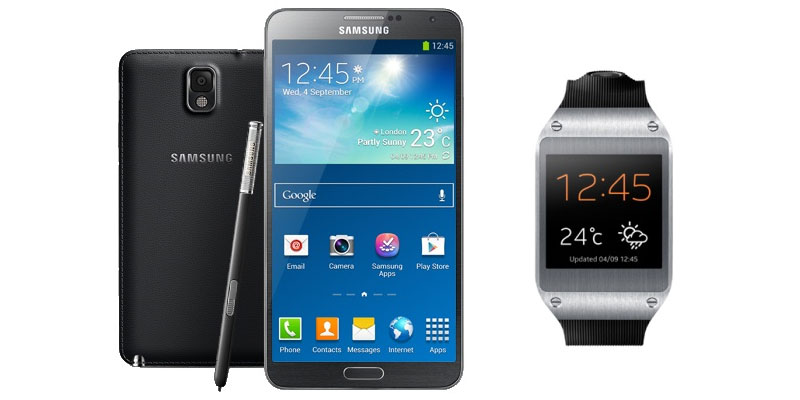 Samsung Galaxy Note 3 and Samsung Smart Watch Gear coming on 25th September in India