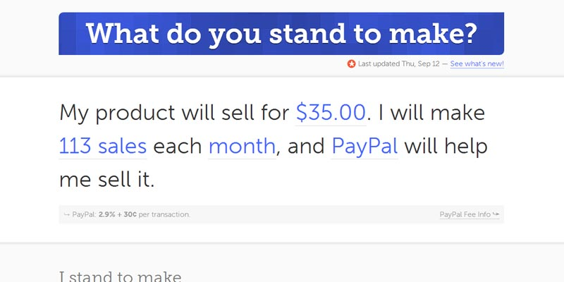 Calculate potential online earnings with standtomake.com