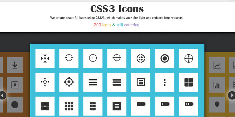 Get over 200+ CSS3 icons created by UIPlayground.in
