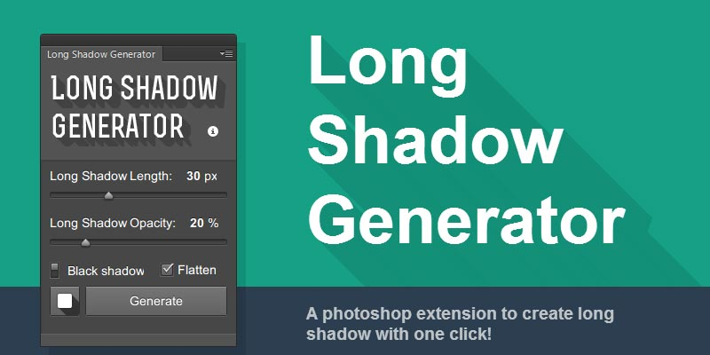 Long Shadow Generator: Free Photoshop extension to generate long shadow effect