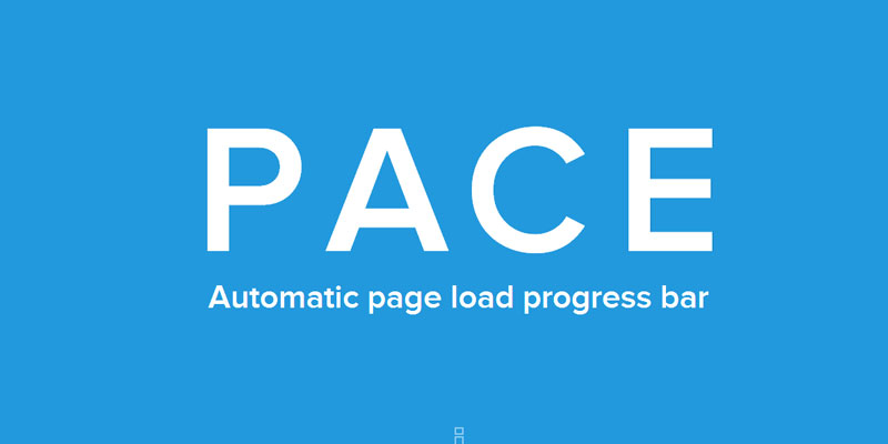 PACE: An automatic web page load progress bar javascript plugin