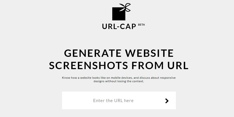 URL-CAP: Create responsive website screenshots from web address