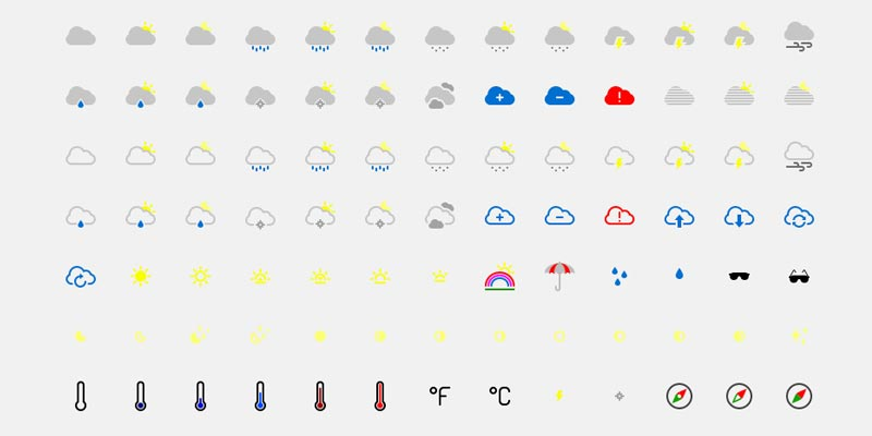 Download free weather icons in vector format