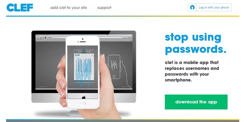 Clef: log in and log out to your website with your smartphone