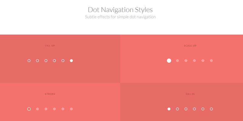 Learn to create dotted style navigation
