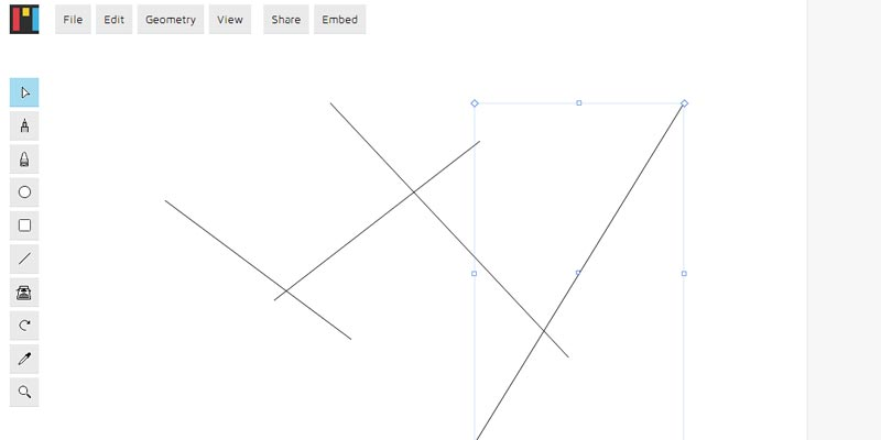 Mondrian: A free open source web based vector graphic app