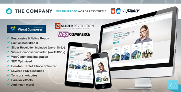 themeforest the company preview