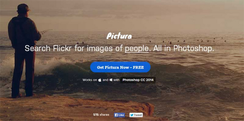 Pictura – To use flickr photos in Photoshop