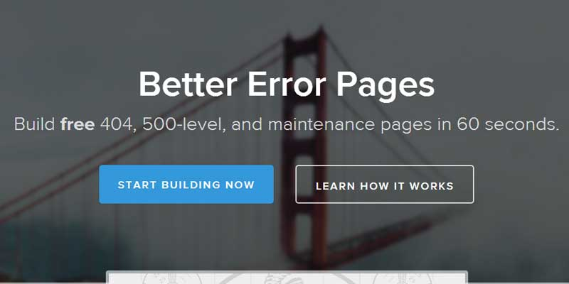 Better Error Pages - Create 404, 503 and maintenance pages for free