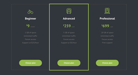 Pricing Tables Inspiration