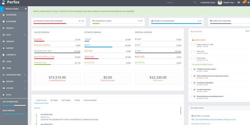Perfex CRM for Freelancer and Agency