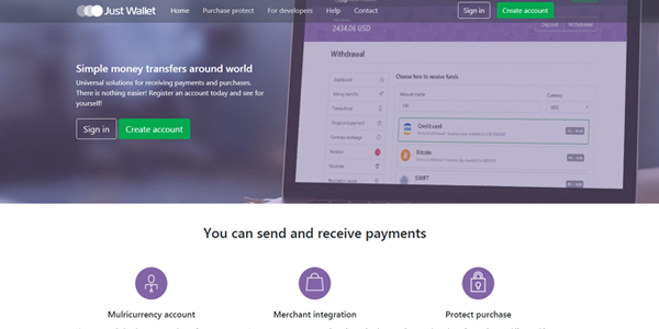 Create your own online Wallet System with Just Wallet