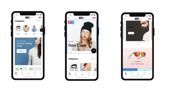 Oreo Fashion - Full React Native App for Woocommerce