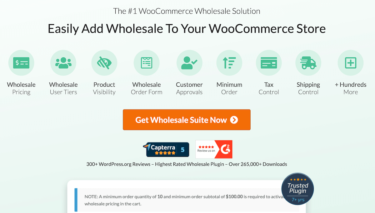 Start your B2B eCommerce with Wholesale Suite